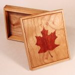 Small Box with Red Maple Leaf